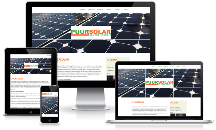 Happit webdesign : project PuurSolar